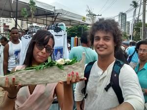 Estudante produziu barco de argila para preservar o meio ambiente (Foto: Rafael Teles / G1)