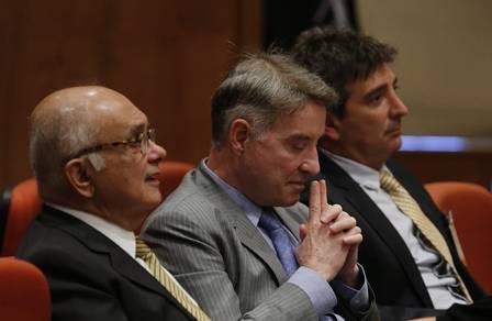 Julgamento de ação penal contra Eike Batista na Justiça Federal, em 2014 Foto: Alexandre Cassiano / Agência O Globo