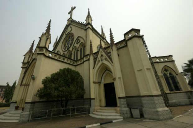 Catedral de Lagos, com inspiração barroca. Foto: Pius Utomi Ekpei/AFP