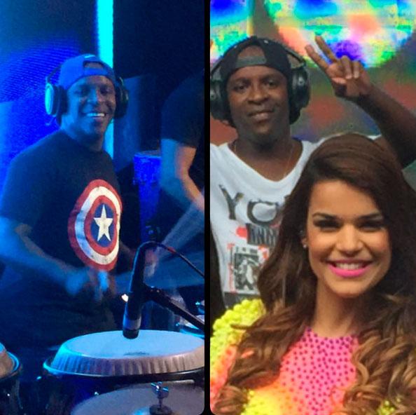 Mari Antunes, do Babado Novo, postou imagem ao lado do músico (Foto: Reprodução)