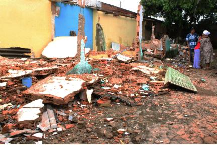 Centro Espírita Afro-Brasileiro Ilé Axé Iemanjá Ogum Té foi totalmente depredado. É o oitavo ataque a templos de religiões de matriz africana em oito meses no Entorno de Brasília. (Foto: Fundação Cultural Palmares)