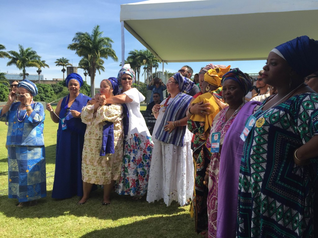 Ato interreligioso no gramado do Palácio do Planalto – Foto: Maria Carolina Trevisan