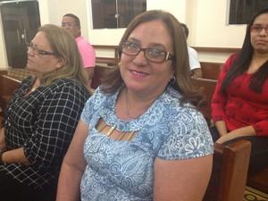 Heloísa Jucá participou pela primeira vez da missa (Foto: Jéssica Alves/Site)