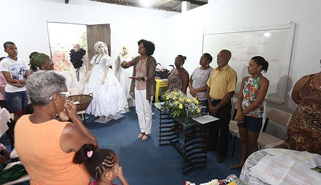 Joá Souza l Ag. A TARDE Anhamona de Brito, da SJDHDS, fala durante primeira aula do projeto Motimba Mameto