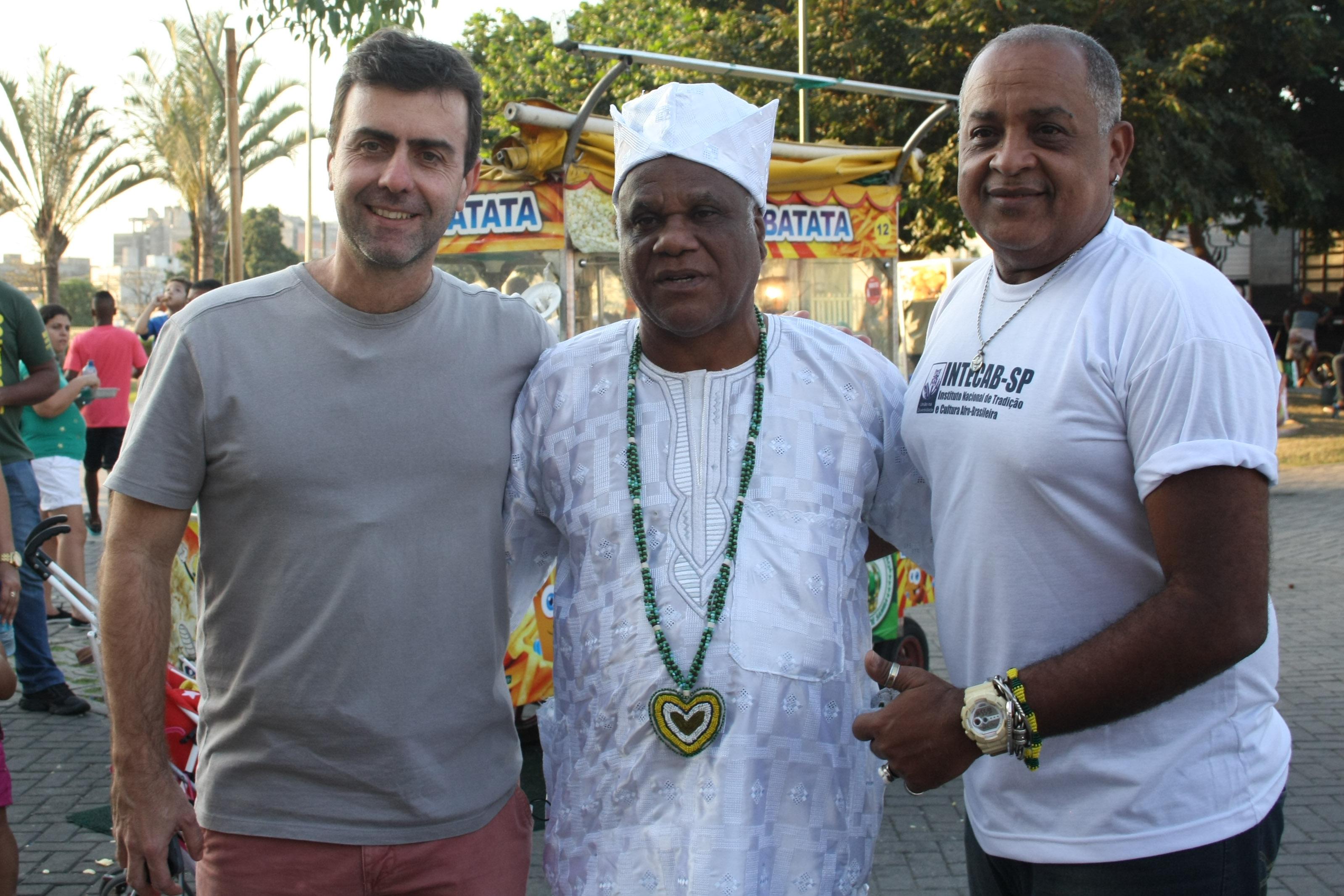- Marcelo Freixo, com Ivanir dos Santos e Yango