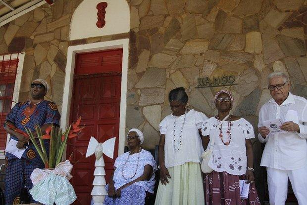 Obás de Xangô receberam homenagem nesta quarta-feira (13) no Ilê Axé Opô Afonjá (Foto: Marina Silva/CORREIO)