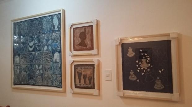 Obras da exposição 'Áfricas no Brasil' (Foto: Divulgação/Paraty Cultural)