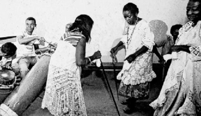 Museu Afro-Digital | Divulgação Os voduns Lepon e Arronoviçavá da Casa das Minas com bengala e lençol em São Luís