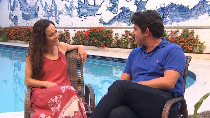 A atriz Alice Braga tem família de axé na Bahia (Foto: TV Bahia)