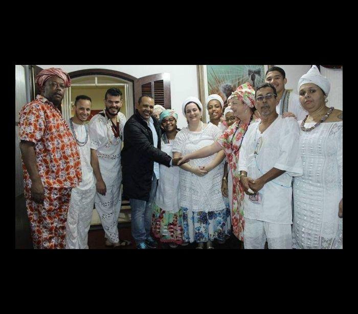 Última agenda de presidente da Portela foi em terreiro de candomblé © DIVULGAÇÃO