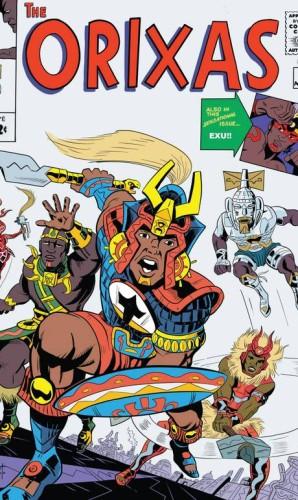 """O quadrinista Hugo Canuto recriou de uma clássica capa dos """"Vingadores"""" substituindo os heróis por orixásFoto: Divulgação / Agência O GLOBO"""