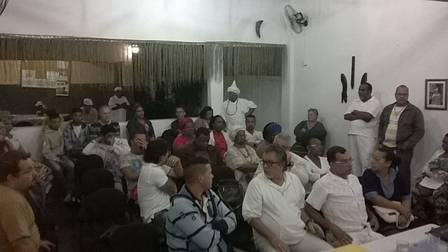 Uma das reuniões do projeto Terreiro Legal Foto: Divulgação