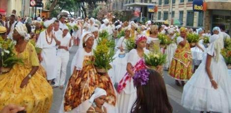 A décima edição da marcha pede respeito pelas religiões de origem africana. Foto: Arquivo/ Angélica Souza/ NE10