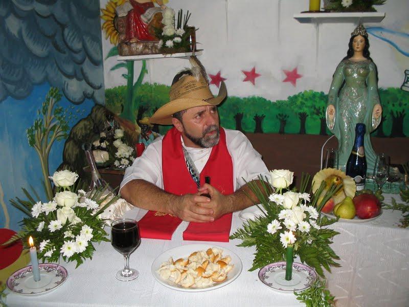 O pai de Santo e babalorixá, Antonio Piasson. Foto: Arquivo Tenda Espiritual Pai Benedito