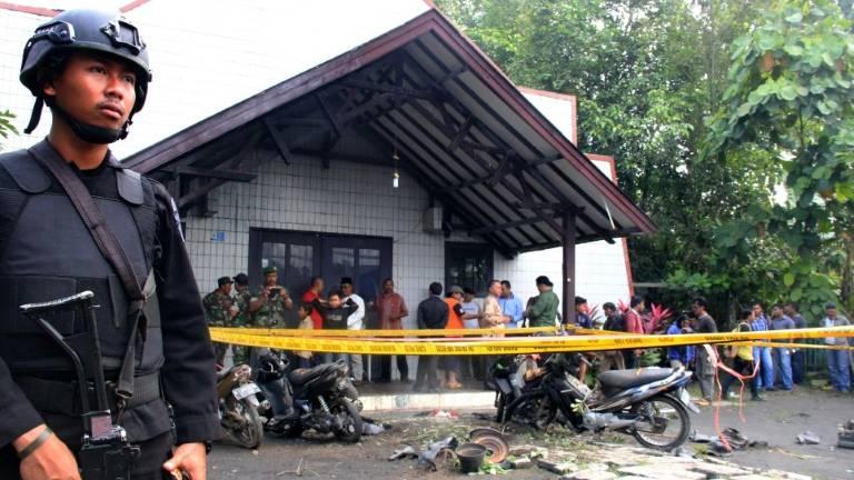 (13 nov) Igreja atacada em Samarinda, Indonésia - AFP AFP