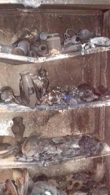 Objetos foram queimados Foto: Divulgação