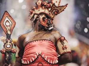 Representação de Iansã  (Foto: Raul Zito/G1)