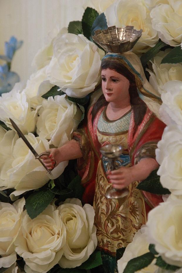 Santa Bárbara é reverenciada pela sua trajetória de devoção e fé (Foto: Angeluci Figueiredo/CORREIO)