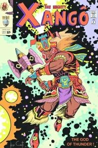 Internet. Hugo Canuto, em agosto deste ano, publicou uma série de trabalhos que recriam as capas de HQs com personagens do universo dos Orixás, como Iemanjá e Xangô