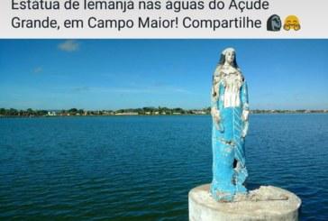 Situação física da estátua de Iemanjá repercute nas redes sociais em Campo Maior