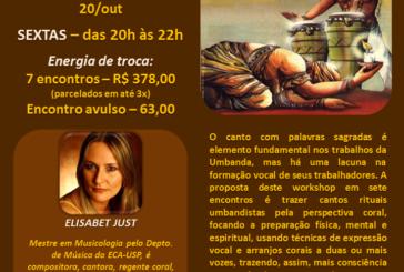 Workshop de Canto Coral com Canções Tradicionais de Umbanda – 28/jul