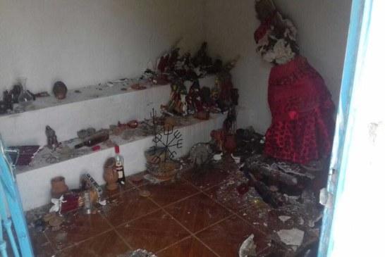 Centro espírita é atacado e tem mais de 50 imagens destruídas