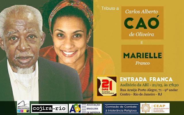 ABI sedia, hoje, tributo a Caó e Marielle