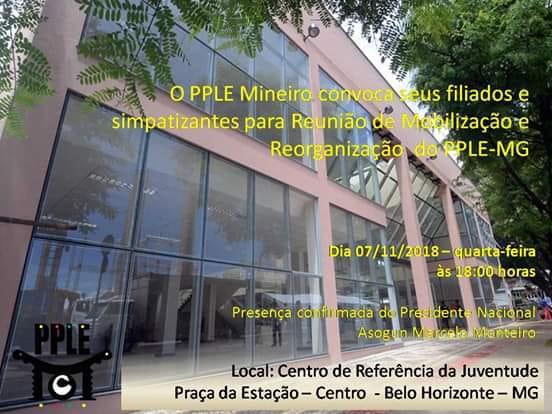 PPLE convoca filiados para encontro de mobilização na capital mineira
